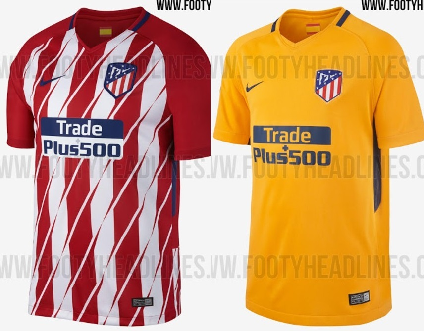 Vazam uniformes que o Atlético de Madri usará na temporada 2017 18 ... be2f5c90ca18d
