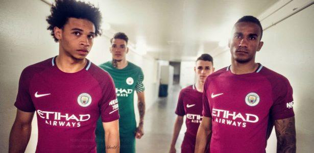 Manchester City lança uniforme para a temporada na cor grená - 20 07 2025 -  UOL Esporte 481e27517a71a