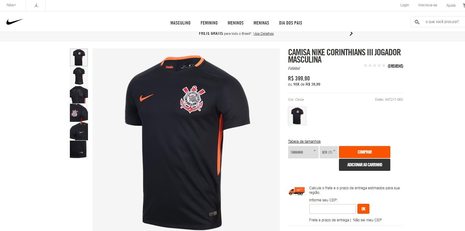 081ba9c30f O Corinthians e a Nike lançarão em breve um novo uniforme do time  alvinegro. A empresa norte-americana confirmou a novidade depois de imagens  vazarem nas ...