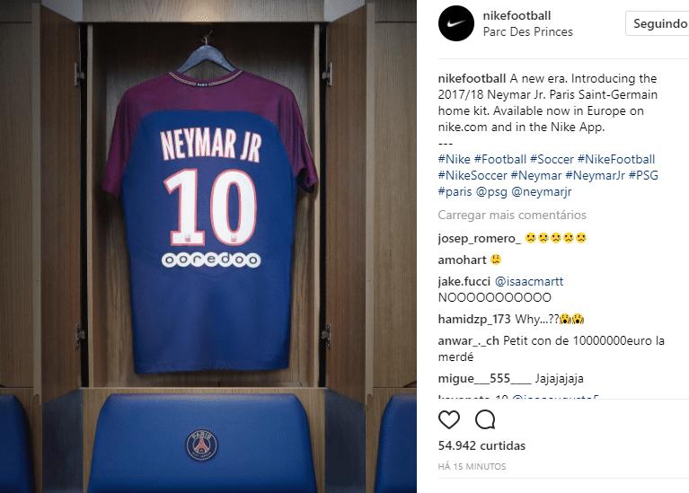acd129f96b Neymar será camisa 10. Uniforme no PSG já está em produção - 20 08 ...