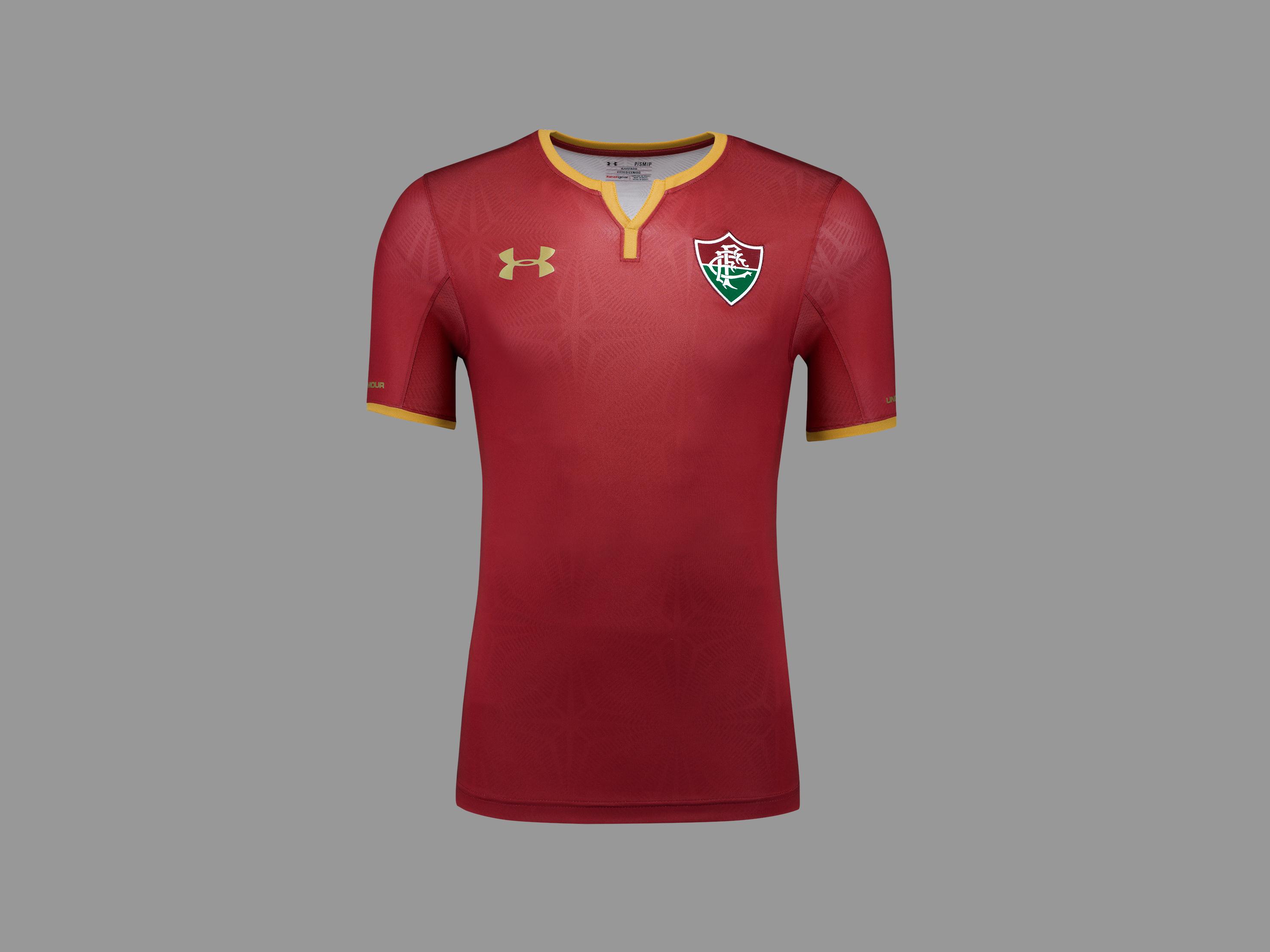 1b55f360eb O grená é a inspiração da nova camisa 3 do Fluminense. Apresentado pela  Under Armour nesta terça-feira na campanha