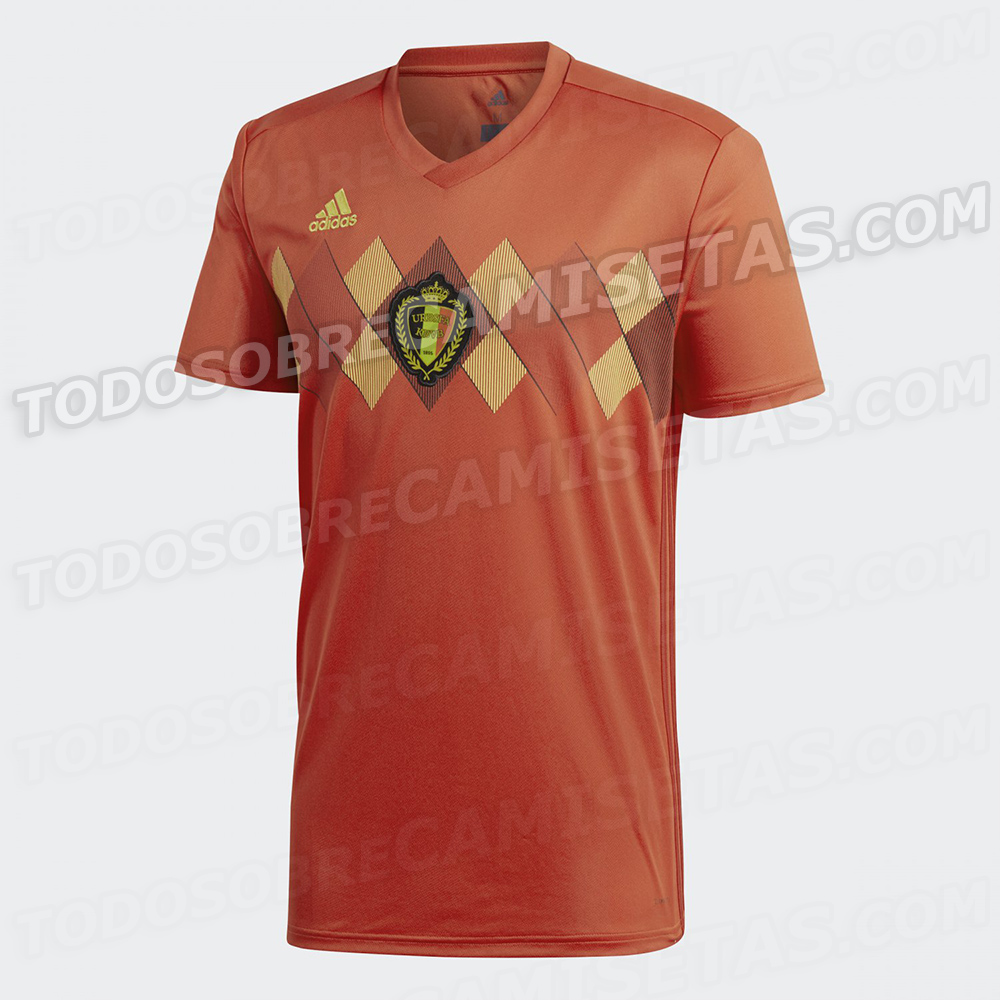 Site vaza uniforme que será usado pela Bélgica na Copa do Mundo de ... a1a09eacbe278