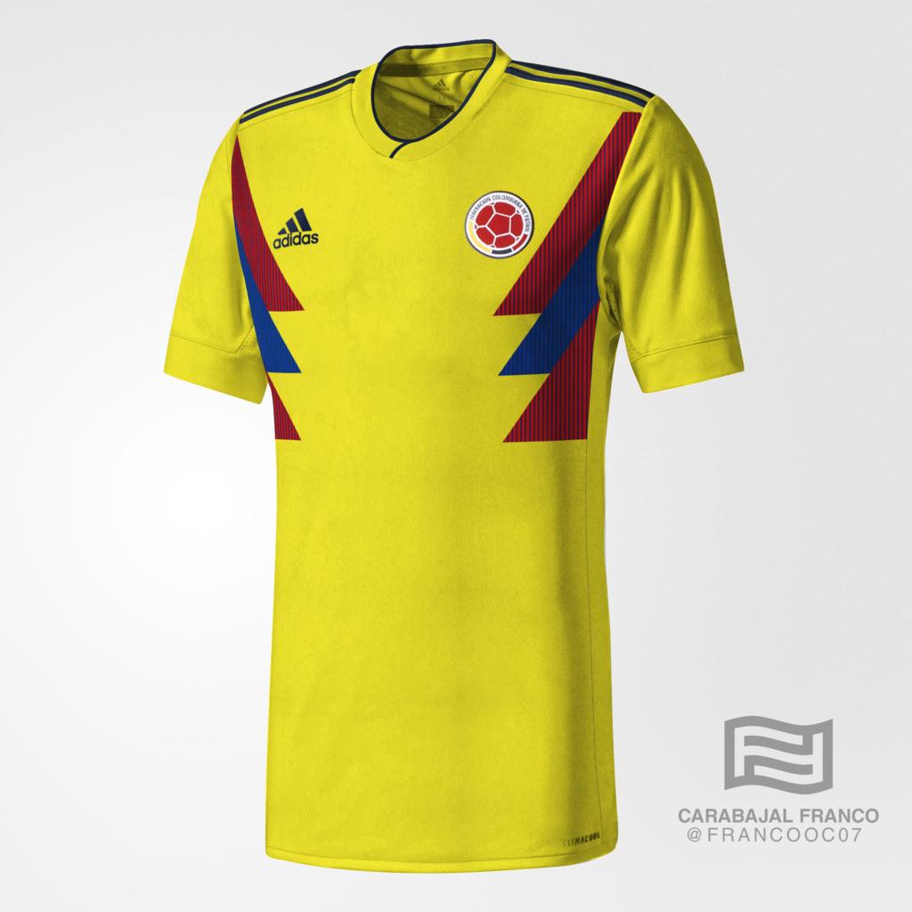 A camiseta da Colômbia é inspirada no Mundial de 1990. A camisa da  Argentina é inspirada no ano de 1993 b993d29b8e519