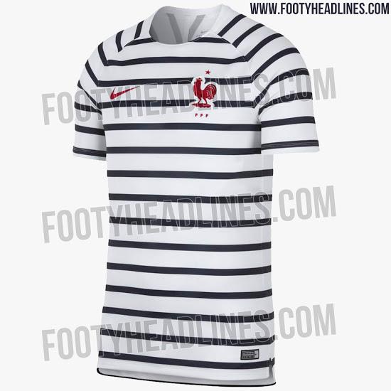 Site vaza camisa de pré-jogo da seleção francesa para a Copa de 2018 ... 77daa26d14cb9