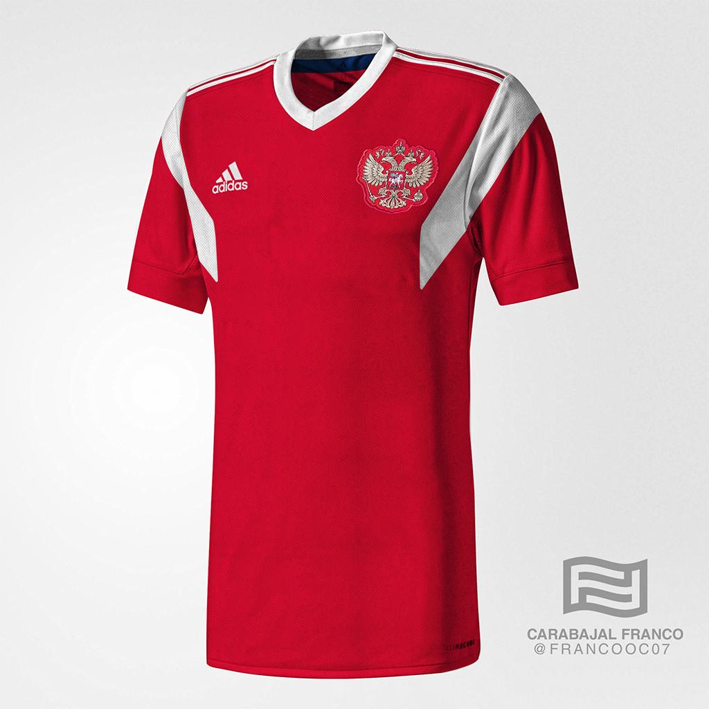 O site especializado em camisas Todo sobre camisetas mostrou como devem ser  as camisetas de duas seleções já confirmadas na Copa do Mundo. 8eb88c0640240