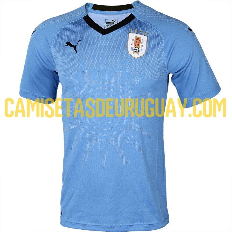 Já o modelo que será utilizado pelo Uruguai respeita as tradições da seleção  e mantém a cor azul celeste como regra. A novidade é o design do monumento
