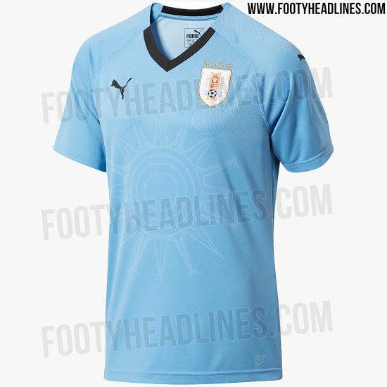 A seleção uruguaia divulgou essa semana a o kit principal de uniforme que  usará na Rússia em 2018. 35124add29fc8