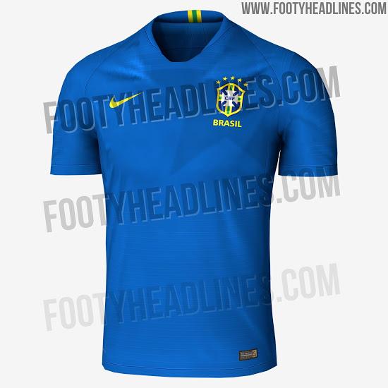 Site vaza suposta camisa azul do Brasil para a Copa de 2018 - 20 12 ... 58774011d7005