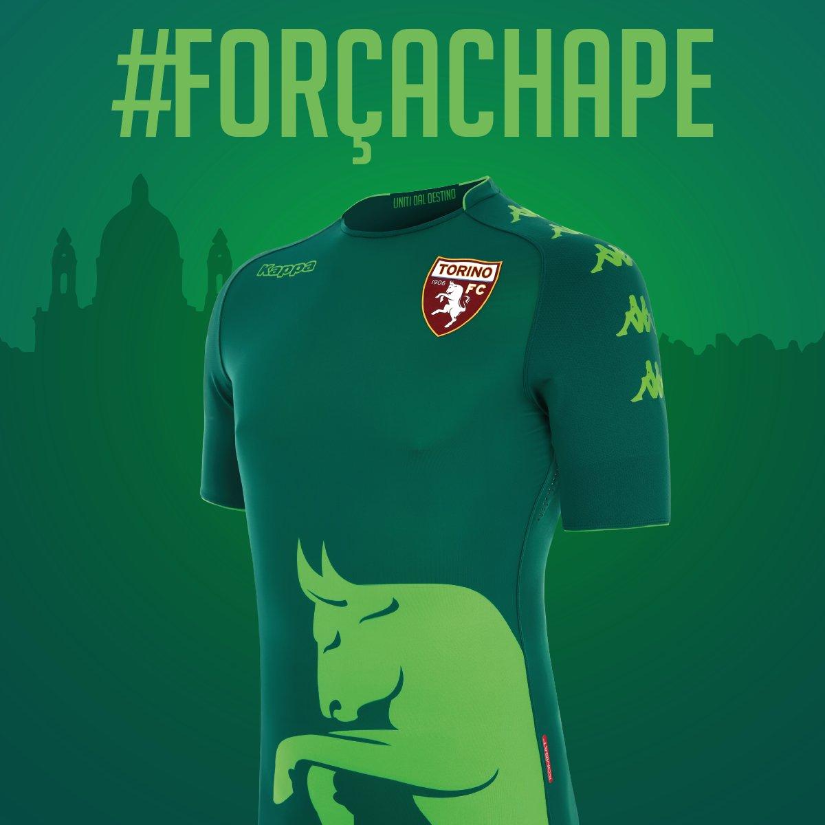 0010eadf22 Torino divulga uniforme que usará em homenagem à Chapecoense - 20 12 ...