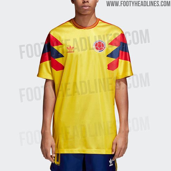 9e882843c8 A adidas relançará a camiseta utilizada pela Colômbia na Copa do Mundo de  1990. O site