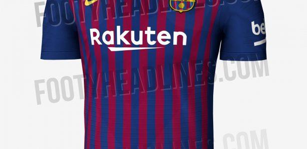 Site vaza camisa do Barça para a próxima temporada com listras mais finas -  20 01 2002 - UOL Esporte d503b382a300b