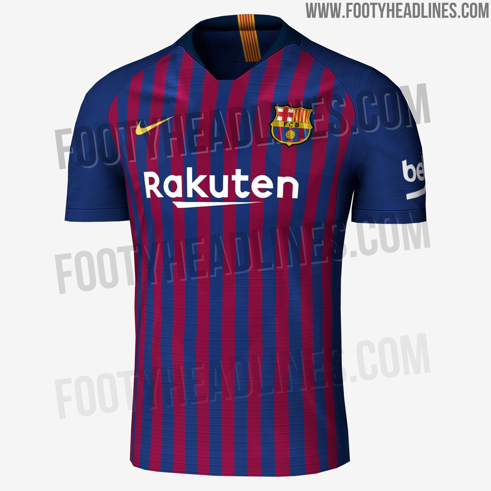 d61ceed62da75 Site vaza camisa do Barça para a próxima temporada com listras mais finas
