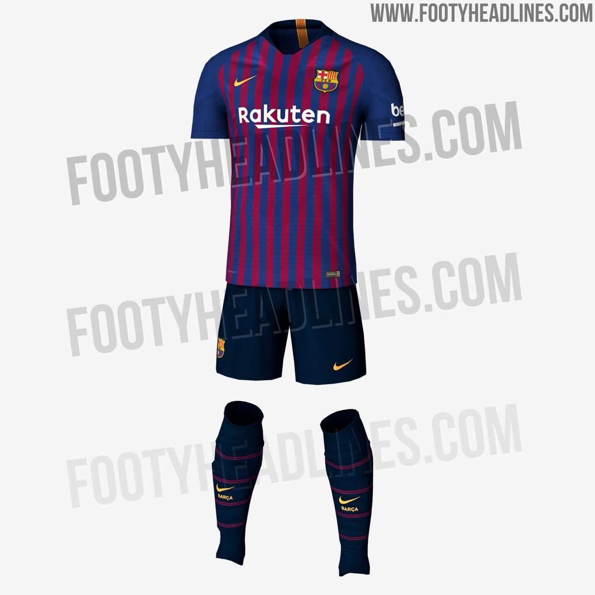 1fcdd5391b5dd As listras da próxima camisa do Barcelona serão mais finas do que a atual.