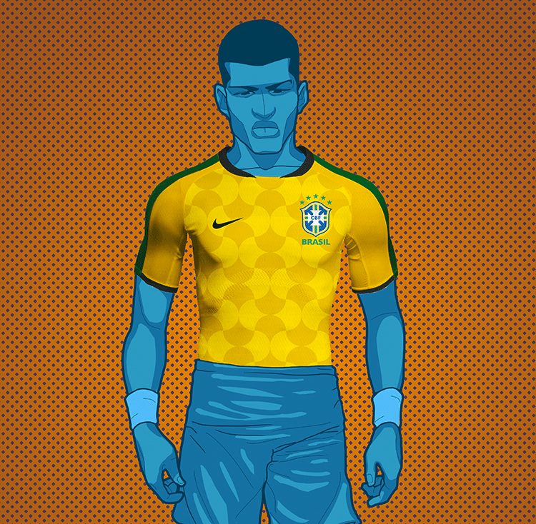 Como poderia ser a camisa do Brasil na Copa do Mundo da Rússia  - 20 ... 031dffa232db6