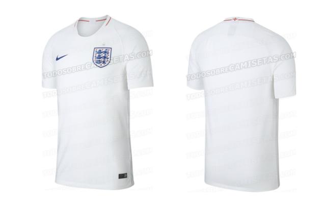 82b3cb708ab1d Site vaza camisa principal que a Inglaterra deve usar na Copa do ...