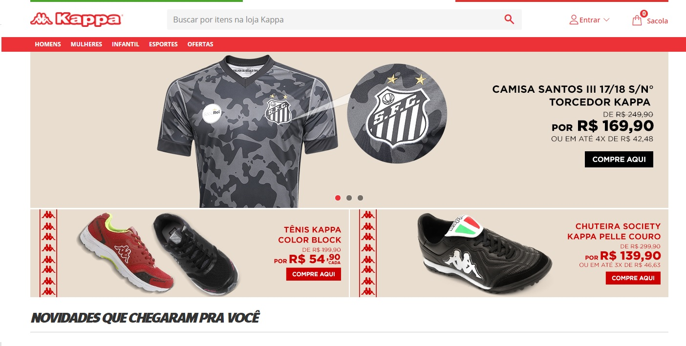 Kappa ganha loja virtual no Brasil em parceria com Netshoes - UOL ... 0961c40e628a4