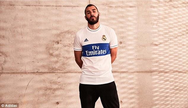 O Real Madrid divulgou novo uniforme 6af92466128b9