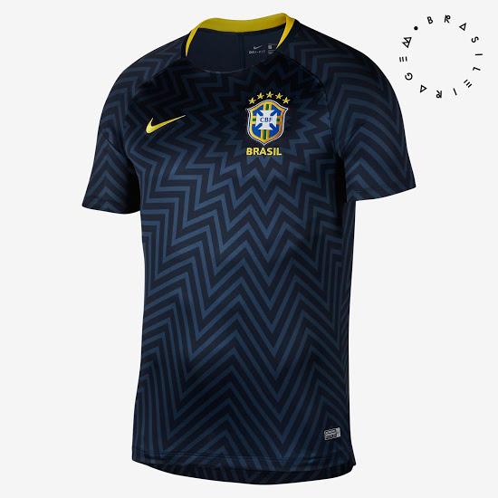 O site Footy Headlines divulgou nesta segunda-feira o uniforme que a seleção  brasileira entrará em campo para jogos da Copa do Mundo da Rússia. f7e2947d754f7