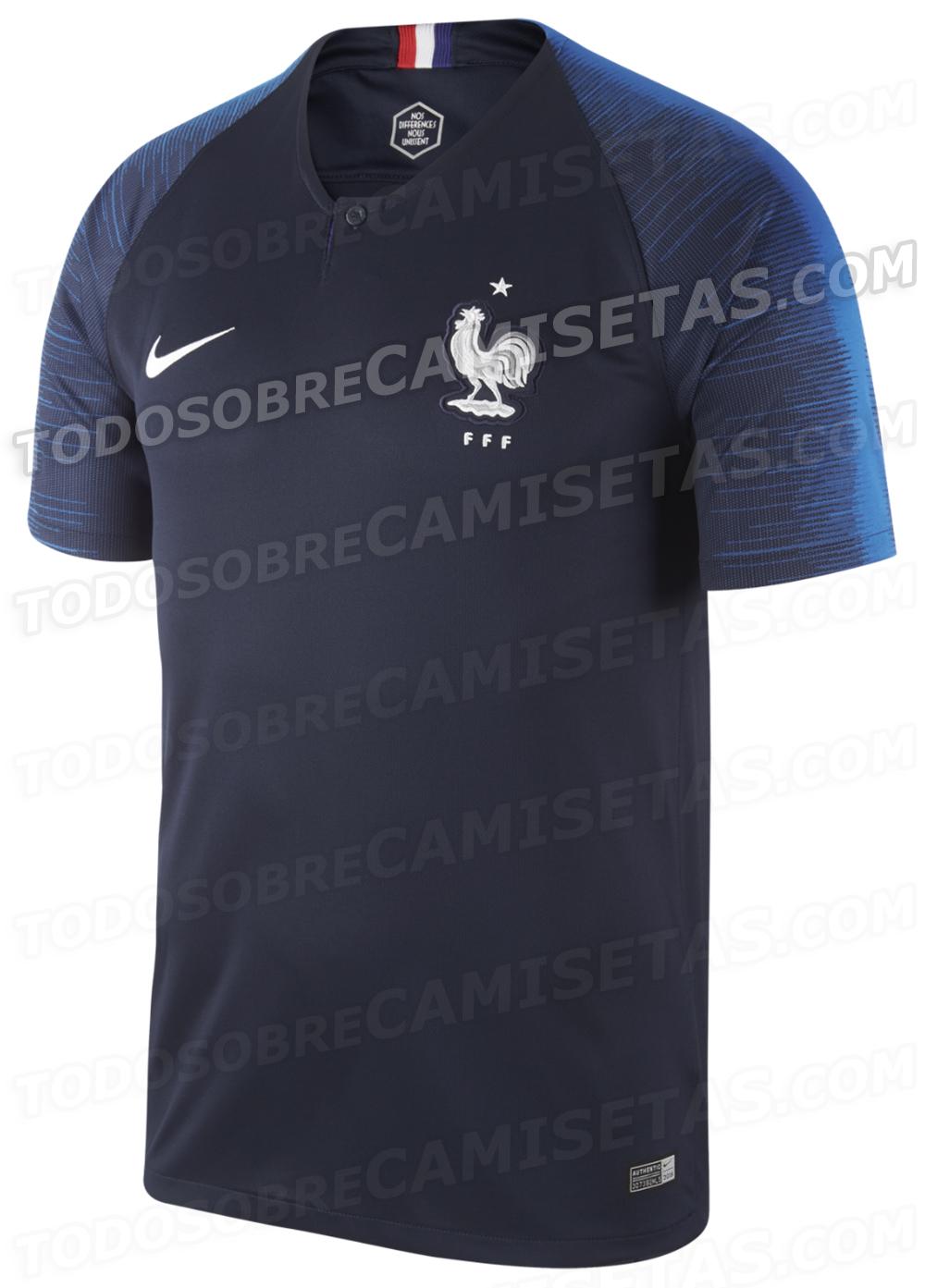 2a2980ec24 Site exibe imagens de camisas da França para a Copa do Mundo de 2018 ...