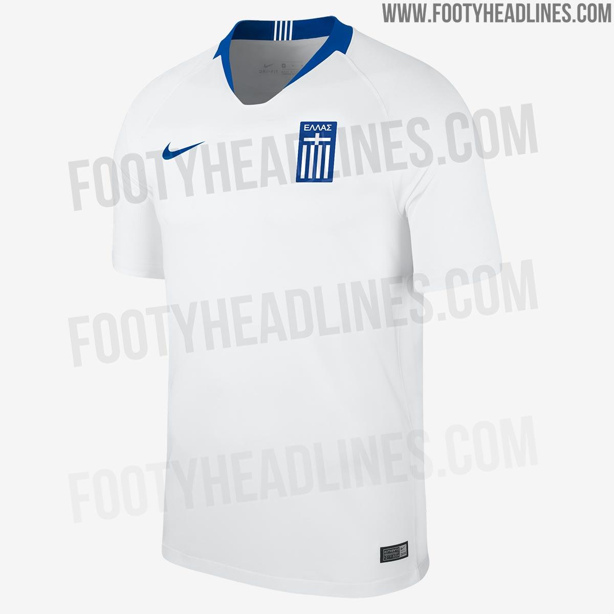 Suposta nova camisa da Grécia (Reprodução Footy Headlines). Leia mais. Nike  divulga fotos dos uniformes da seleção para a Copa ... 601efea7ec88b