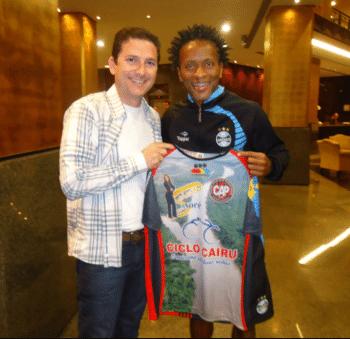 Heder Palmonari, ex-técnico do time com Zé Roberto quando jogava no Grêmio (Foto: Arquivo Pessoal de Heder)