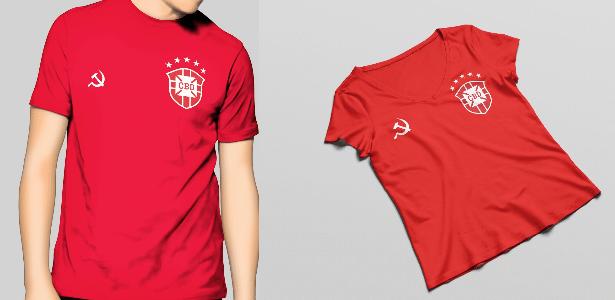 3e708d3303 Designer lança camisa vermelha da seleção para torcedores de esquerda