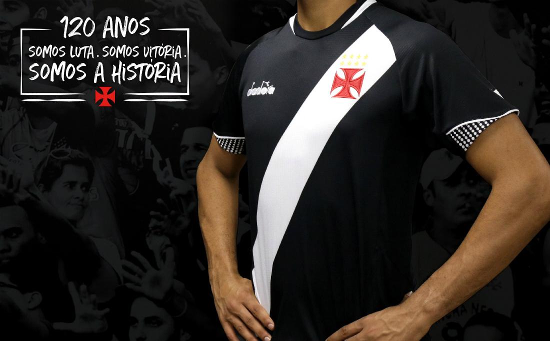 d387689ff2191 Vasco revela nova camisa e se redime após críticas a modelo ...