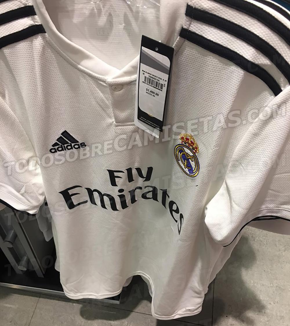 ab3ff60338 Nova camisa titular do Real Madrid (Reprodução/Todo Sobre Camisetas)