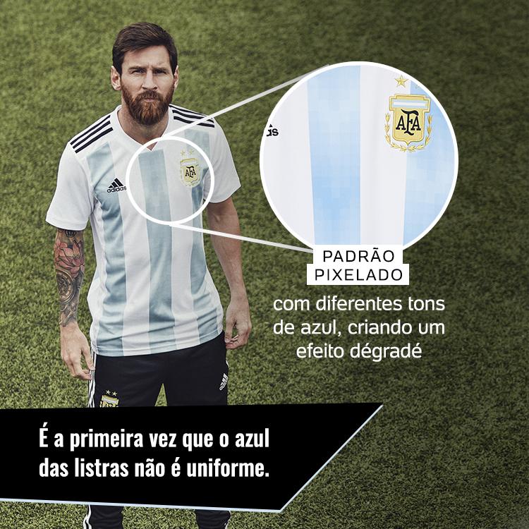 2b54a525ca Argentina aceita mudar seu uniforme para a Copa pela primeira vez ...