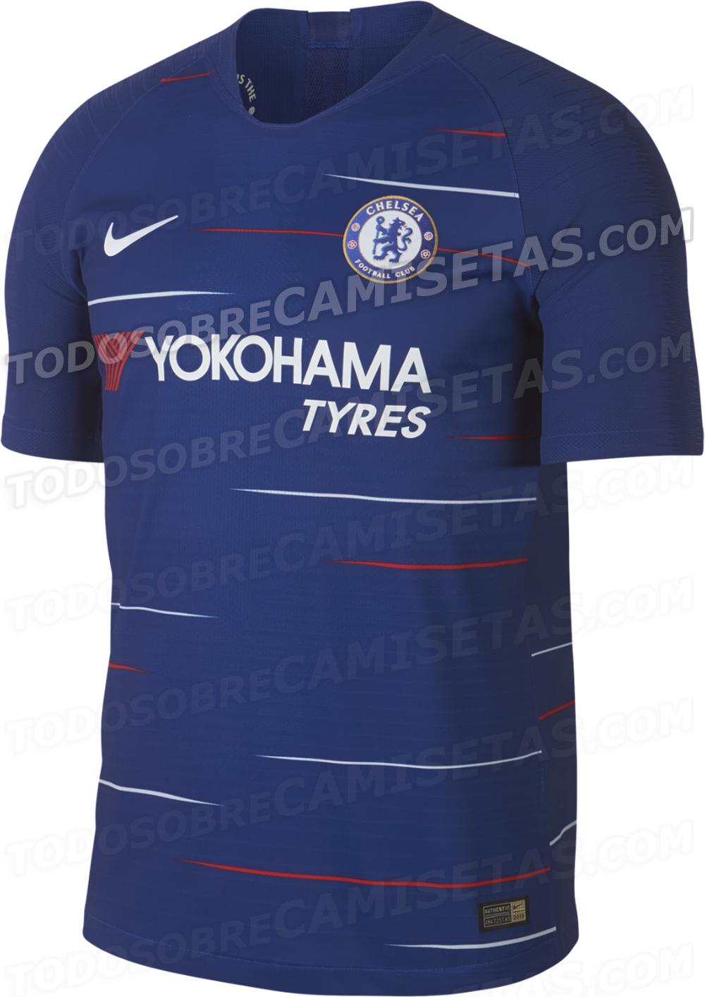 74ecdd36fe Site vaza suposta nova camisa do Chelsea com listras vermelhas e brancas