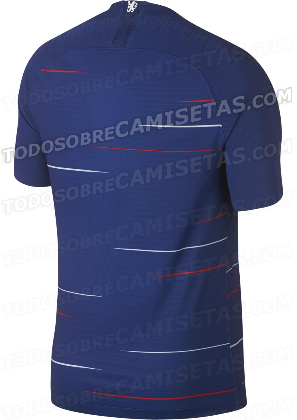 7b5ccfdf08 Site vaza suposta nova camisa do Chelsea com listras vermelhas e ...