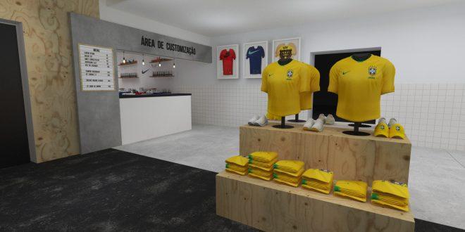 f5e5c635565d3 Nike abre espaço para personalizar camisas da seleção no Largo da ...