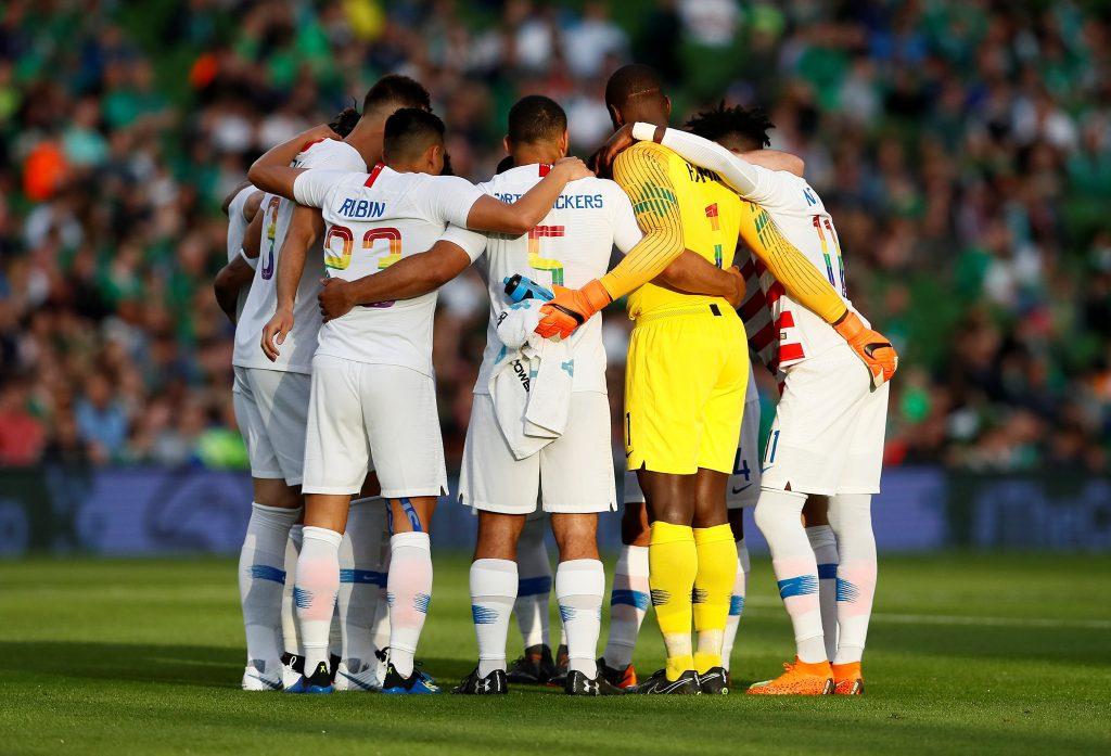 Seleção dos EUA usa cores do Orgulho LGBTQ. Foto  Action Images via  Reuters Jason Cairnduff daa01513ff285