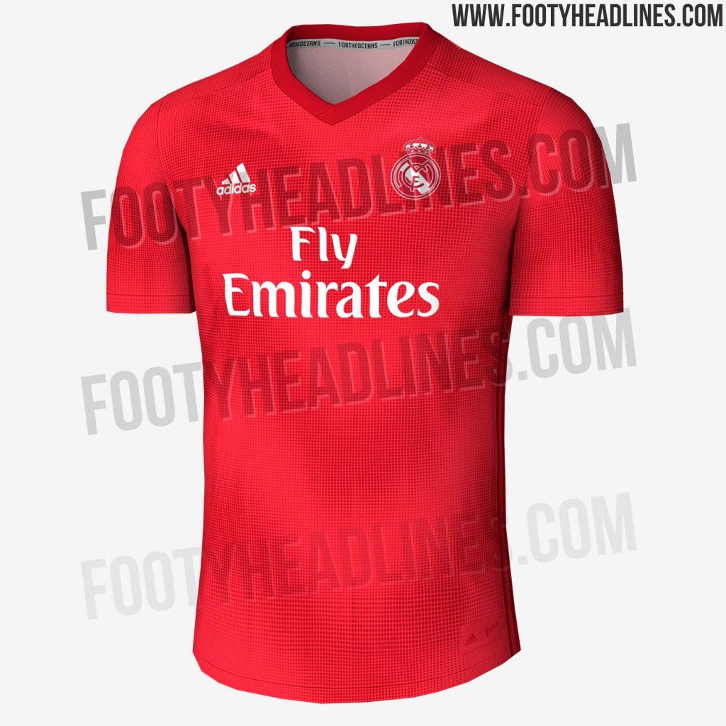 98e029d0a1 Suposto terceiro uniforme do Real Madrid para temporada 2018 2019  (Reprodução Footy Headlines)
