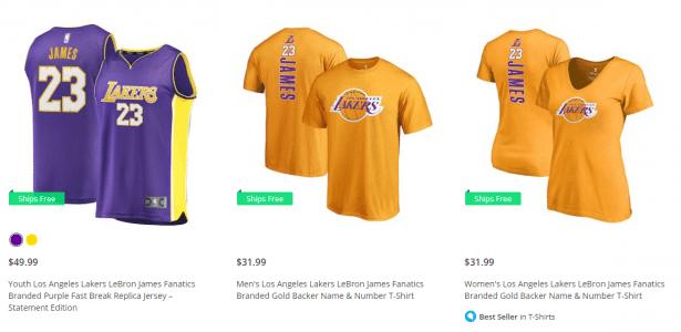 Los Angeles Lakers já vende camisas número 23 de LeBron James - UOL Esporte c7c6203f18888