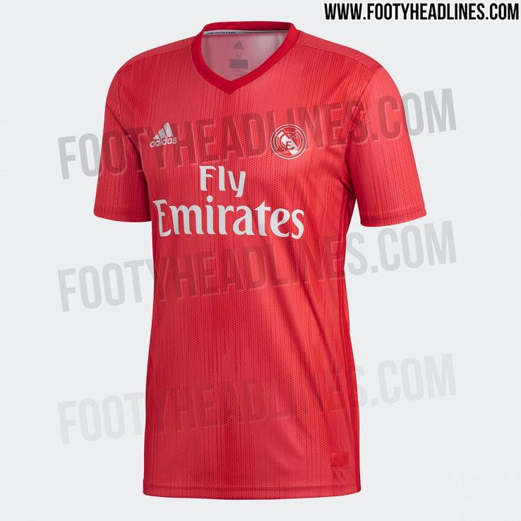 Real Madrid usará 3º uniforme vermelho na próxima temporada 6122632246f95