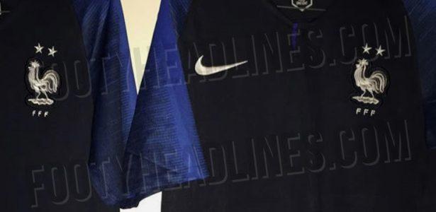 193be329e5 Antes de final, site vaza foto de camisa da França com estrela de campeão -  UOL Esporte