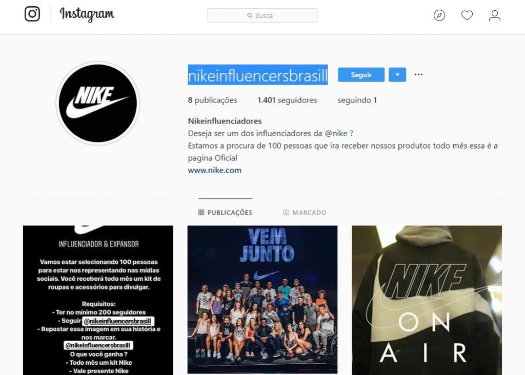 05df45c2f3 Campanhas assim não são iniciativas inovadoras. A reportagem encontrou  postagens semelhantes em inglês, mais antigas, prometendo patrocínio da  Nike a ...