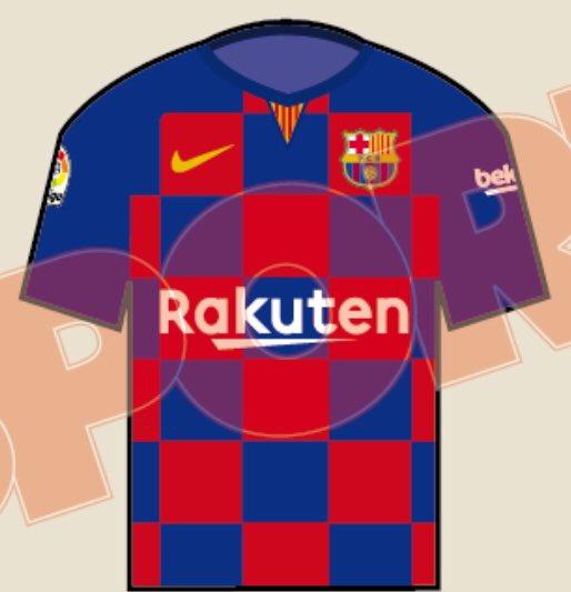 O Barcelona apresentará um modelo ousado de uniforme na próxima temporada.  De acordo com o jornal