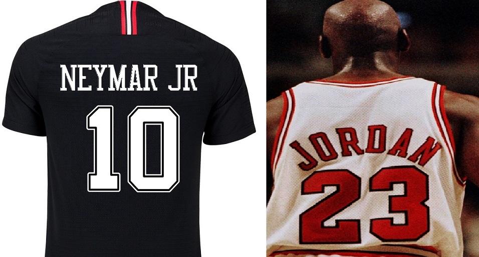 O Paris Saint-Germain incorporou a marca registrada de Michael Jordan para  os uniformes do time especialmente produzidos para a Liga dos Campeões da  Europa. 34dfa25268ef7