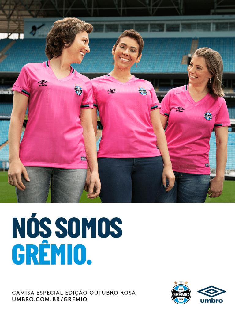 a0e5ce6ad Grêmio lança camisa em homenagem ao Outubro Rosa - UOL Esporte
