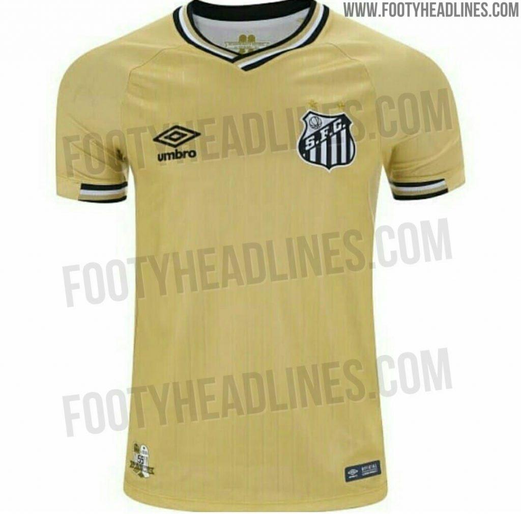 Site divulga suposta nova camisa 4 do Santos na cor dourada - 20 10 ... 17edb08748165