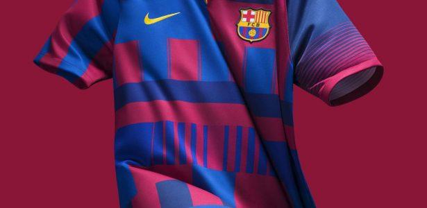 Nike e Barcelona lançam camisa comemorativa de 20 anos de parceria - UOL  Esporte f14d578b98d