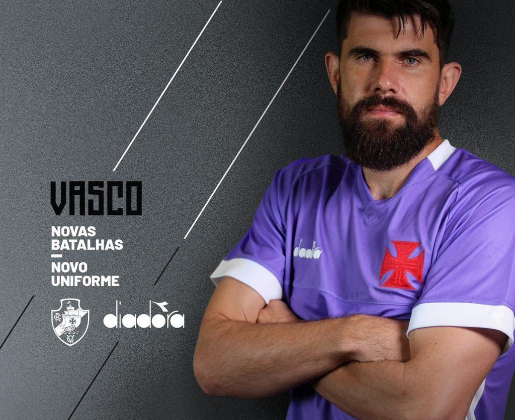 F. Miguel estreará nova camisa de goleiro do Vasco na cor roxa nesta quarta b88627ce6f64b
