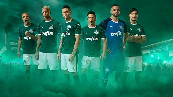 Palmeiras e Puma exibem imagens dos novos uniformes do clube para 2019 c08f72005ff64