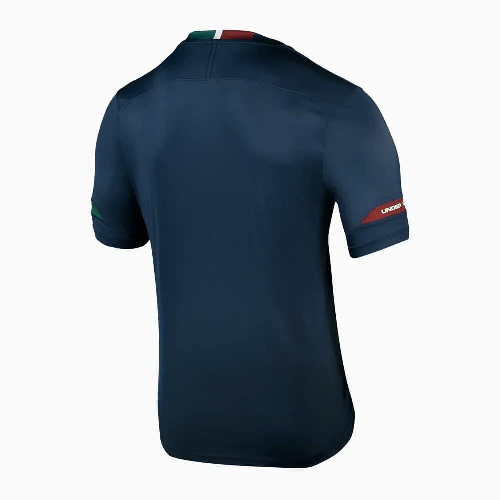 3901e19cf84b7 Fluminense divulga terceira camisa na cor azul escura com faixa ...