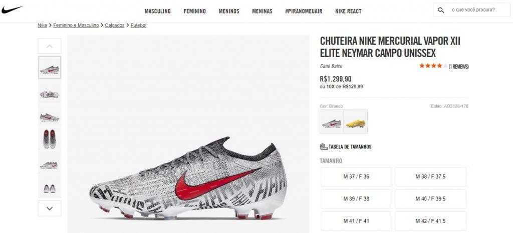 Nike lança linha de chuteiras de Neymar  preços chegam até R  1.299 ... 017caa549ec46