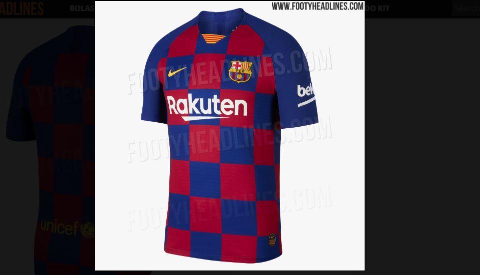 390dc3c9c5bd2 Imagens na nova camisa do Barcelona vazaram hoje. O site