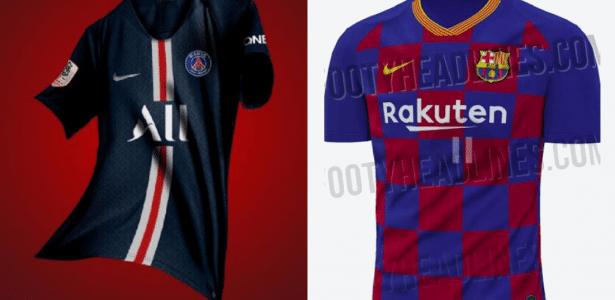ae915fa7b PSG, Barça, Juve... Site divulga supostas novas camisas de clubes ...