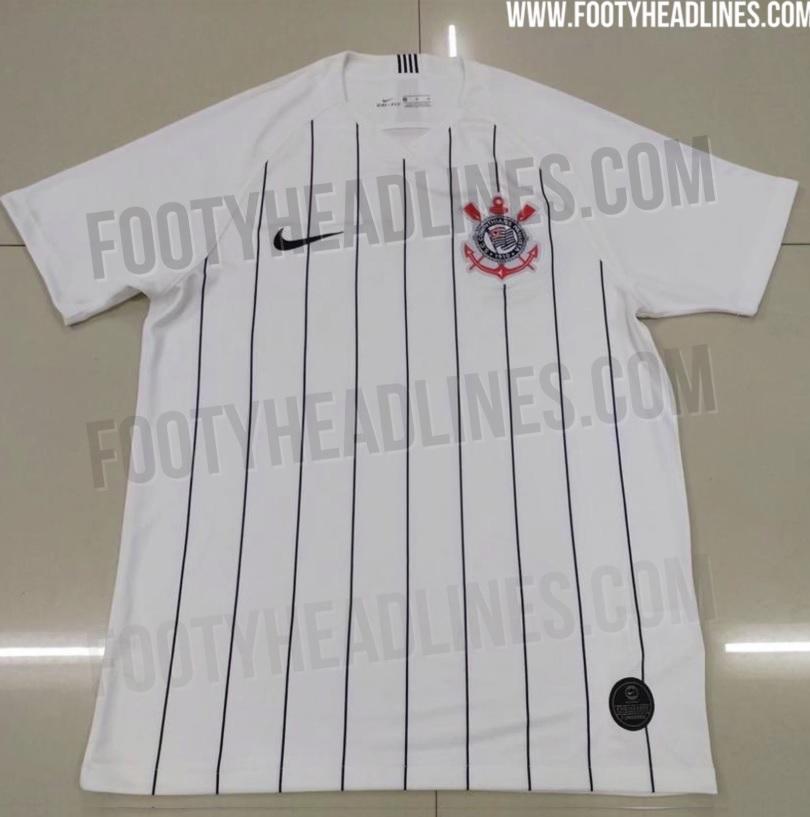 48a4ca5c89a3b O site Footy Headlines vazou hoje (19) o suposto novo uniforme do  Corinthians para a temporada. A camisa 1